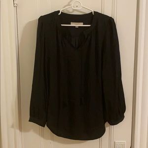 Loft Blouse with V-Neck and Tassels Size M